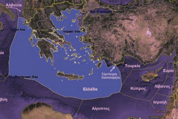 Χάρτης της ελληνικής ΑΟΖ