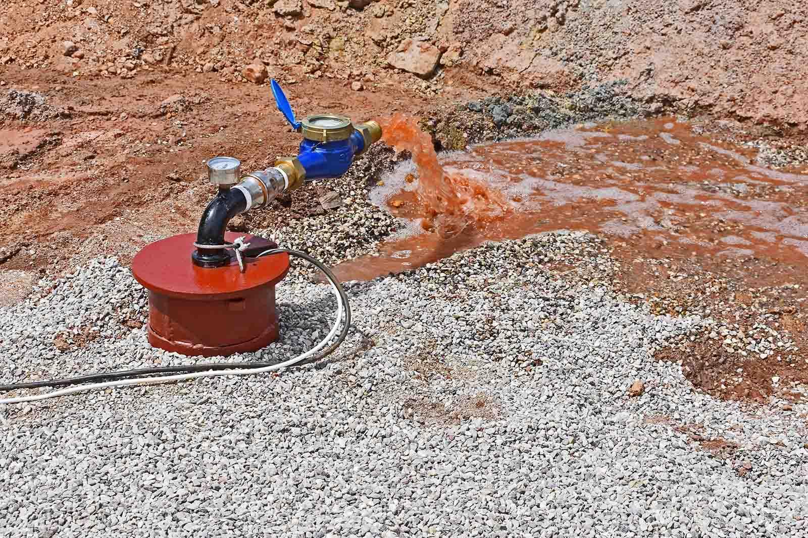 Δοκιμαστική άντληση σε γεώτρηση νερού